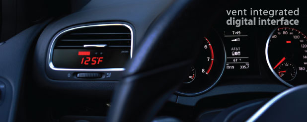 P3 Cars Integrated Vent Boost Gauge VW Volkswagen Scirocco EOS